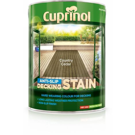 Cuprinol Anti Slip Decking Stain - Country Cedar - 5 Litre