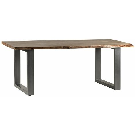 Natural Essential Live Edge Large Dining Table - Light Wood