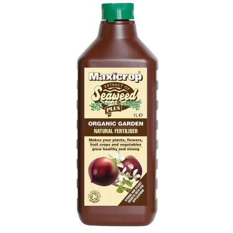 Natural Fertilizer Organic Garden Maxicrop Natural Fertiliser 1 Litres Plants