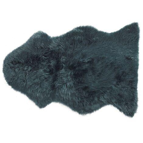 Natural Genuine Sheepskin Rug Fluffy Cover Soft Throw Dark Green Uluru