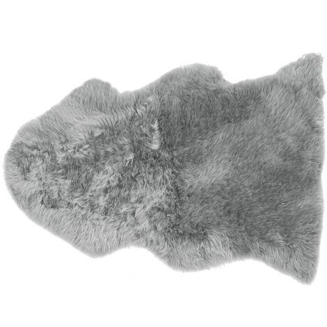 Natural Genuine Sheepskin Rug Fluffy Cover Soft Throw Light Grey Uluru