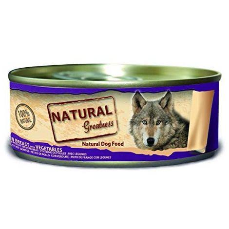 Natural Greatness Comida Húmeda para Perros de Pechuga de Pollo con Verduras. Pack de 24 Unidades. 156 gr Cada Lata