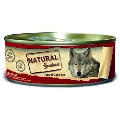 Natural Greatness Comida Húmeda para Perros de pechuga de Pollo. Pack de 24 Unidades. 156 gr Cada Lata
