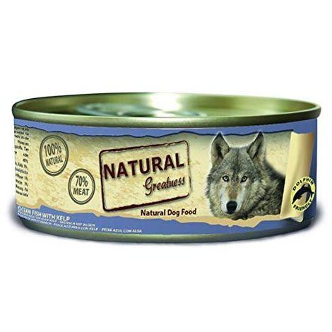 Natural Greatness Comida Húmeda para Perros de Pescado de mar con Kelp. Pack de 24 Unidades. 156 gr Cada Lata