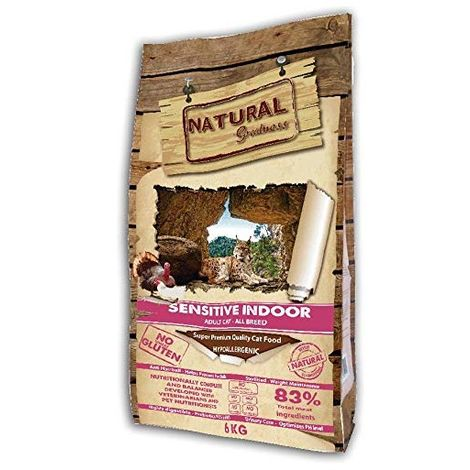 Natural Greatness Pienso seco para Gatos Receta Sensitive Indoor. Super Premium- Adult Cat- Todas Las Razas- 6 kg