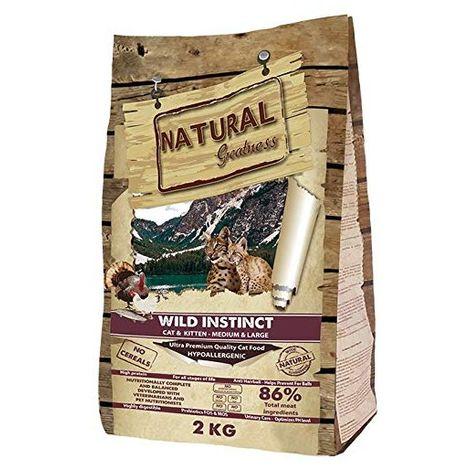 Natural Greatness Pienso seco para Gatos Receta Wild Instinct. Ultra Premium - Cat & Kiiten Medium & Large - Todas Las Razas. 2