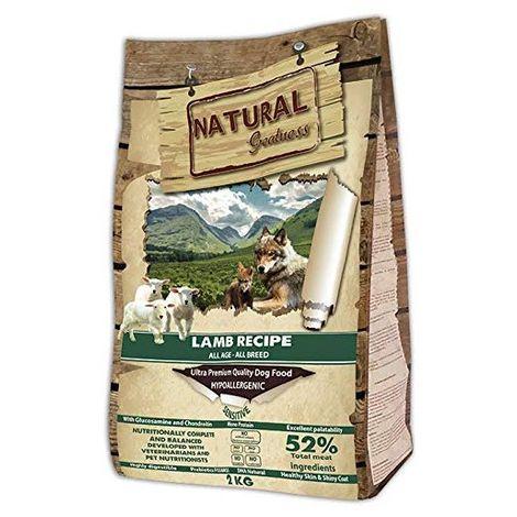 Natural Greatness Pienso seco para Perros Receta de Cordero – Sensitive. Ultra Premium -Todas Las Razas y Edades. 2 kg