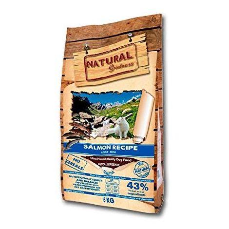 Natural Greatness Pienso seco para perros Receta de Salmón Sensitive- Ultra Premium – Adulto - Mini Breed. 6 kg