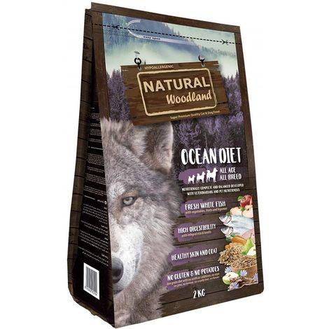Natural Greatness Pienso Seco para Perros Receta Natural Woodland Ocean Diet. Super Premium. Todas Las Razas y Edades. 2 kg