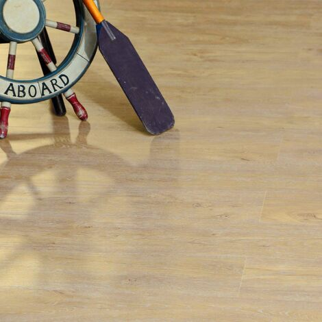 Natural Oak Plank Lvt Vinyl Click Flooring Roll Anti-Slip Kitchen Bathroom