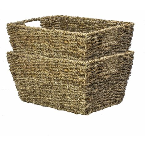 Natural Seagrass Storage Basket | M&W Set of 2
