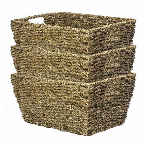 Natural Seagrass Storage Basket | M&W Set of 3