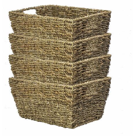 "main image of ""Natural Seagrass Storage Basket | M&W Set of 4"""