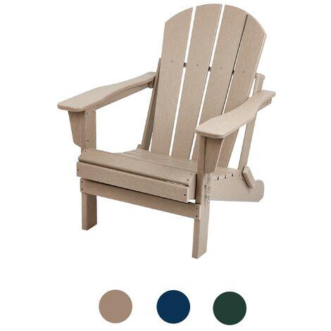 Natural Wood Brown Adirondack Garden Chair Outdoor Armchair Lounger Patio Deck