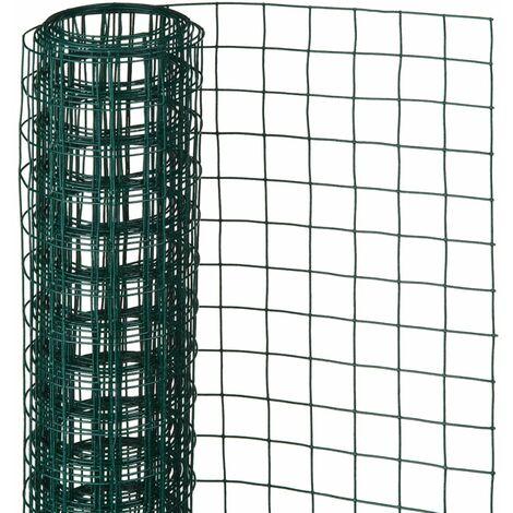 Nature Alambrada cuadrada 0,5x5 m 13 mm acero recubrimiento plástico - Verde
