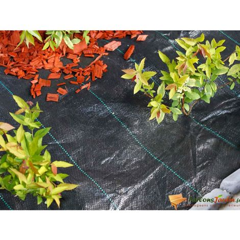 Nature Bâche de sol de contrôle des mauvaises herbes 1x50 m Noir
