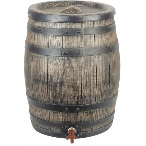 Nature Barril de lluvia aspecto de madera 50 L 38x49,5 cm marrón - Marrón