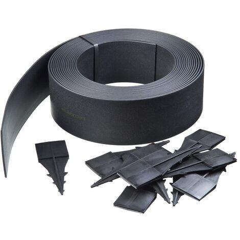 Nature Bordura para jardín color negro 4,5 mm 15 m 604606