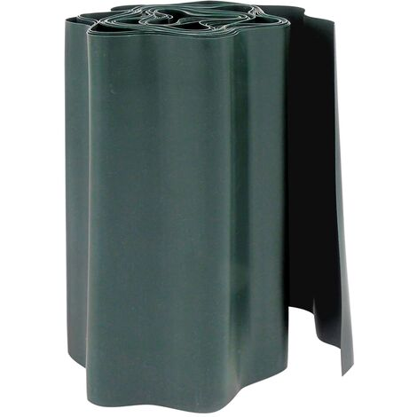 Nature Bordure de gazon en polyéthylène vert H25cm x L9m