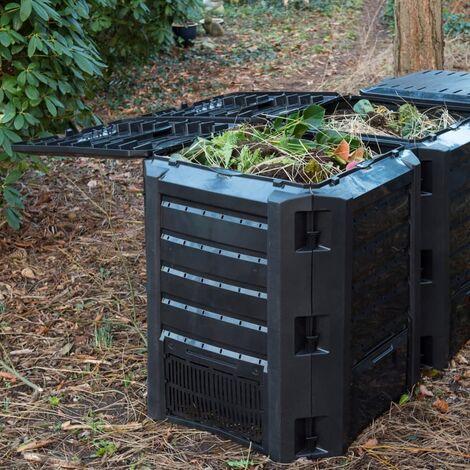 Nature Compost Bin Black 1200 L 6071483 - Black