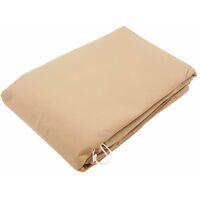 Nature Copertura per Piante con Cerniera 250x250x300 cm 70 g/m² Beige