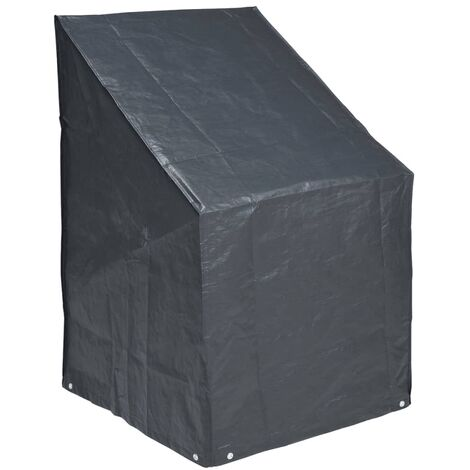 Nature Cover for Stacked Chairs 110 x 68 x 68 cm PE Dark Grey 6030606