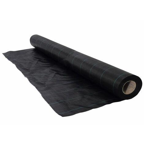 Nature Cubierta de suelo negra 1x50 cm