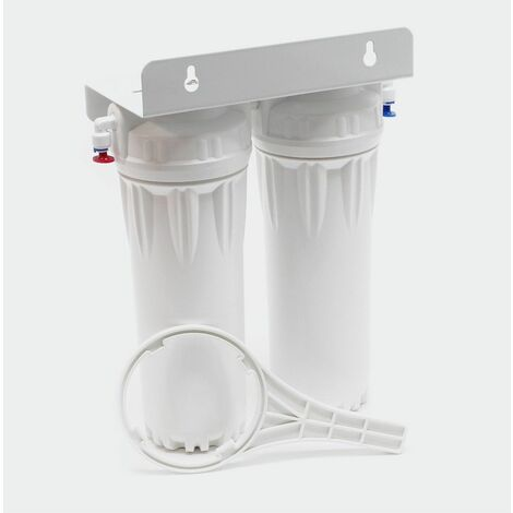 Nature double filtre l'eau NW-PR302 avec filtre sédiments bloc de carbone