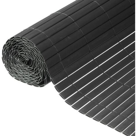 Nature Double Sided Garden Screen PVC 1x3m Anthracite