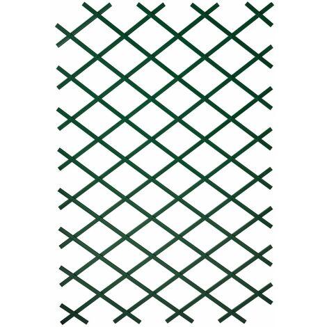 Nature Enrejado de jardín PVC verde 100x200 cm - Verde