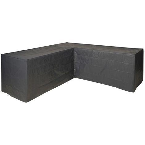 Nature Funda de muebles de jardín para sofá en forma de L 250x90x90 cm - Gris