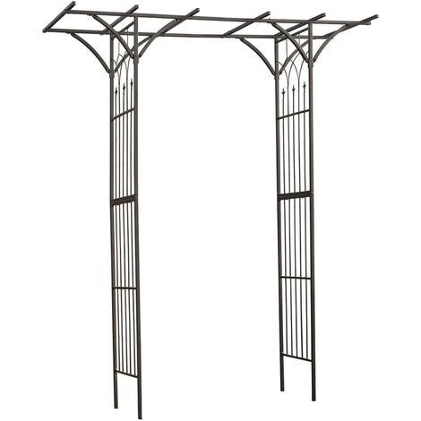 Nature Garden Archway 114x66x232 Cm Steel Black 6040801 P 356281 4025835 1 Jpg