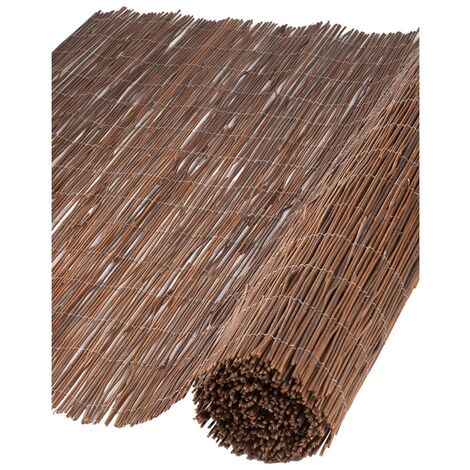 Nature Garden Screen Willow 1x3 m 10 mm Thick - Brown