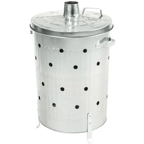 Nature Garten Verbrennungsofen Verzinkter Stahl 46x72 cm Rund