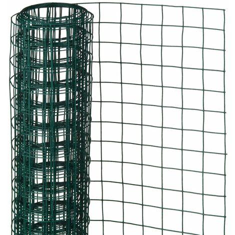 Nature Grillage métallique carré 0,5 x 2,5 m 13 mm Vert