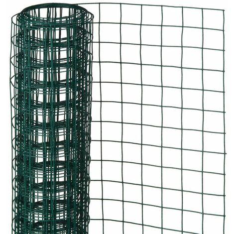Nature Grillage métallique carré 0,5 x 5 m 13 mm Vert