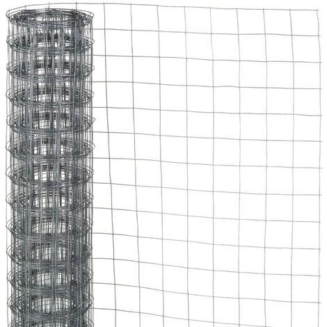 Nature Grillage métallique carré 0,5x2,5 m 13 mm Acier galvanisé