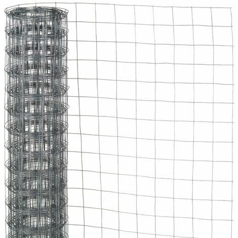 Nature Grillage métallique carré 0,5x5 m 13 mm Acier galvanisé