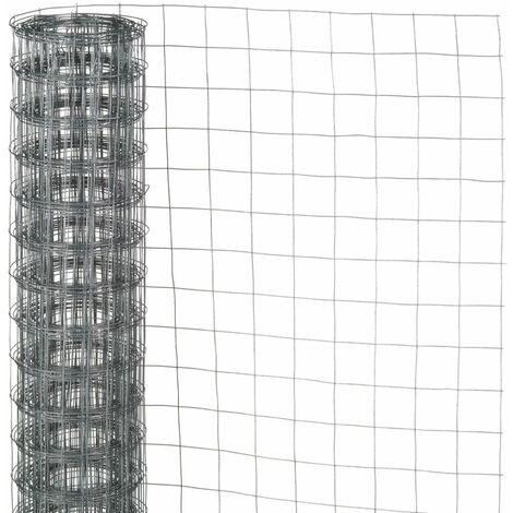 Nature Grillage métallique carré 1 x 2,5 m 13 mm Acier galvanisé