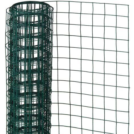 Nature Grillage métallique carré 1 x 5 m 13 mm Vert