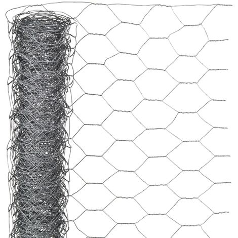 Nature Grillage métallique hexagonal 0,5 x 10 m 25 mm Acier galvanisé