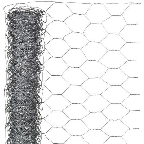 Nature Grillage métallique hexagonal 0,5 x 10 m 40 mm Acier galvanisé