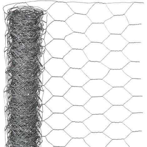 Nature Grillage métallique hexagonal 1 x 10 m 25 mm Acier galvanisé