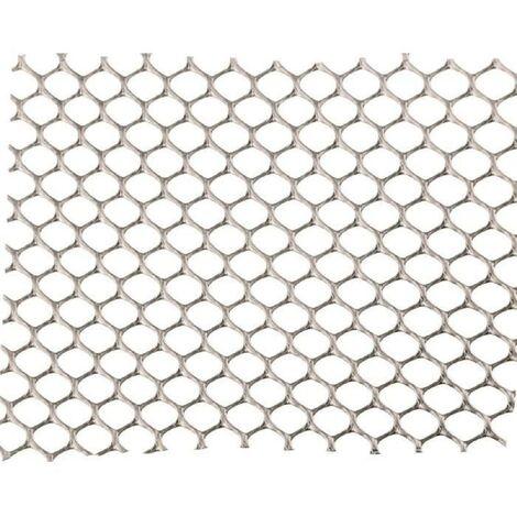 NATURE Grillage pour parterre - HDPE gris - Maille hexagonale 5 mm - 0.5x3 m