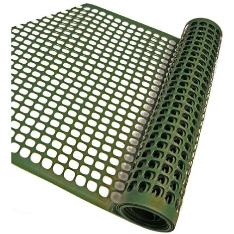NATURE Grillage pour parterre - HDPE vert - Maille rectangle 20x30 mm - 0.5x3 m