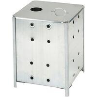 Nature Inceneritore da giardino in acciaio zincato 46x46x65 cm 6070463