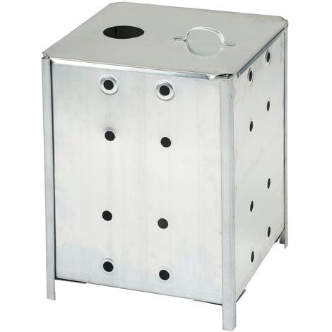 Nature incinerador de jardín de acero galvanizado 46x46x65 cm 6070463