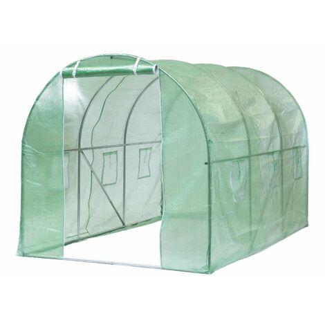 Nature Invernadero verde 3,5x2x2 m - Verde