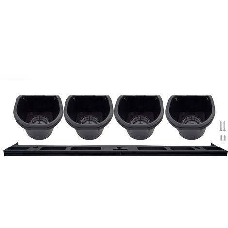 Nature Jardín vertical / Kit para hierbas y flores - Negro