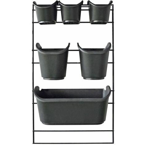 Nature Kit de pared para jardín vertical - Negro